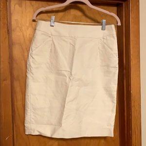 J. Crew White Pencil Skirt